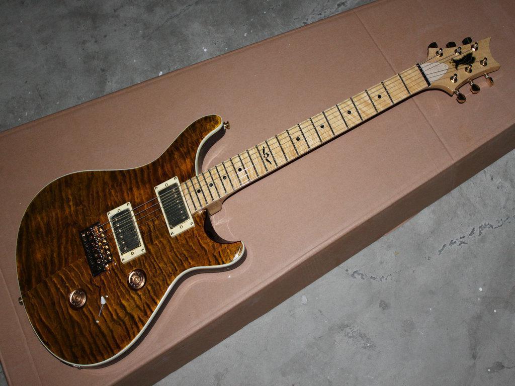 benutzerdefinierte braune Textur hochwertige elektrische Gitarre