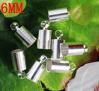 Wholesale End Cap Beads 6mm - Free shipping High-quality End Beads Ends Caps For 6mm Leather Cord,Jewelry Findings, 200pcs lot