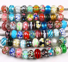 Wholesale High Quality Lampwork Beads Wholesale - Free Shipping High-quality 100 X WHOLESALE LAMPWORK GLASS BEADS FIT CHARM BRACELET
