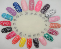 Wholesale Crackle Polish - 12pcs lot + Brand new arrival 40 colors shatter crack crackle cracked style nail polish