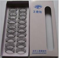 güzel d toptan satış-10 Çift / kutu Güzel Makyaj Karışık Stil Siyah sahte kirpikler