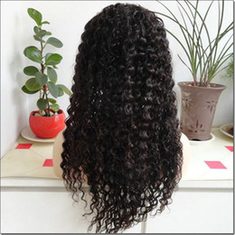 Wholesale Tie Curl Virgin Hair - 20inch Natural jerry curl 100% Brazilian virgin hair full lace wigs