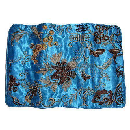 Fine Broderie Fleur Soie Bijoux Rouleau Sac Pliant Portable Grand Femmes Cosmétique Sac De Rangement Drawstrubg Maquillage Voyage Sac /