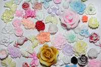 Wholesale 3d Ceramic Nail Art - 1000pcs 3D Ceramic Flower for Nail Art or Scrapbooking