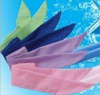bandanas cool achat en gros de-NOUVELLE arrivée Cold Packs Cool Bandanas Cooling Neck Sport Wraps refroidisseur 4 couleurs