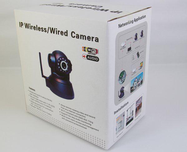 IP-Kamera / kabelgebundene Kamera IP-Kamera WIFI wireless AUDIO CCTV-IP-Kamera schwarz weiß