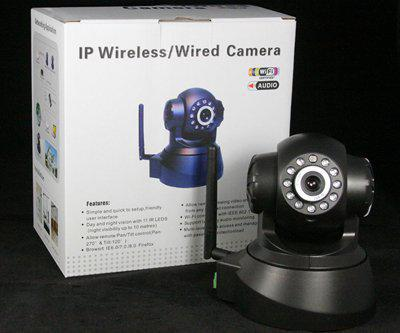 IP بدون كاميرا / كاميرا سلكية IP كاميرا لاسلكية WIFI AUDIO CCTV IP كاميرا أسود أبيض