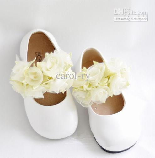 740c5047e Toddler Baby Girl Dress Shoes Leather Infant Kid Flower Ballet Shoes ...