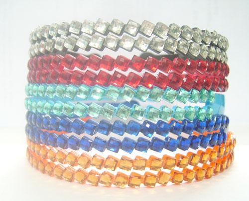 10 sztuk / partia Mix Colors 2 rzęd Crystal Hairband Opaski do DIY Craft Moda Biżuteria Włosów Prezent HJ15 Free Shipp
