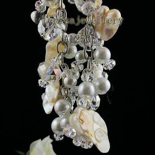 Fabriek groothandel A1250 # meisje vrouw armband kristal shell parel mode sieraden gratis verzending