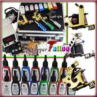 Wholesale Complete Tattoo Kit Machines Guns Power Colors Tattoo Ink Needle Beginner User