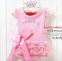 Wholesale Doomagic Clothing - J-026 Doomagic Princess baby romper baby onesies bodysuit Girl Rompers baby wear clothes 4pcs lot