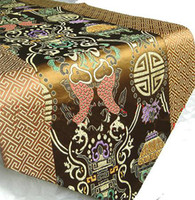 Wholesale Free Coffee Tables - Discount Coffee Table Runner Wedding Satin Printed 1pcs Free