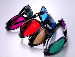 Wholesale 3d Dvd Movies Glasses - Free Shipping 15 Pairs Hot Sell 3D Dimensional 3 D Glasses Red Blue DVD Movie Game