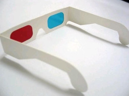 Wholesale Red Blue Anaglyph - Free Ship 100 Pairs High Quality Dimensional Paper 3D Glasses 3D Glasses - Red and Blue Anaglyph