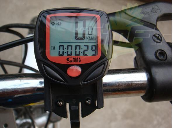 LCD Bike Bicycle Cycle Computer Odometer Speedometer Thermometer
