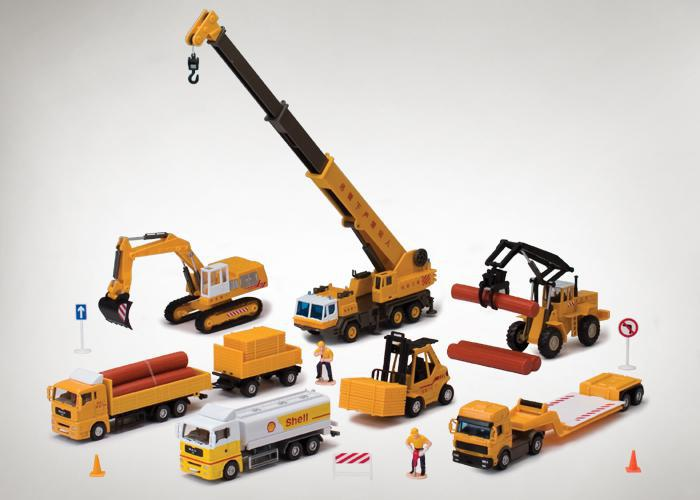 Toy Construction Trucks : Toy sets car cranes excavators bulldozers heavy