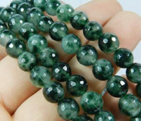 """Wholesale Gemstones 8mm Faceted - beautiful 8mm Emerald Faceted Loose Beads Gemstone 15"""""""