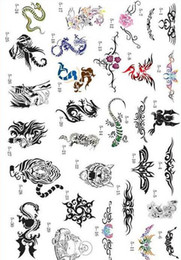 Wholesale Hot Tattoo Book Pictures - 2011 new fashion Hot sell golden phoenix temporary AIRBRUSH TATTOO STENCIL BOOK big 30 pictures
