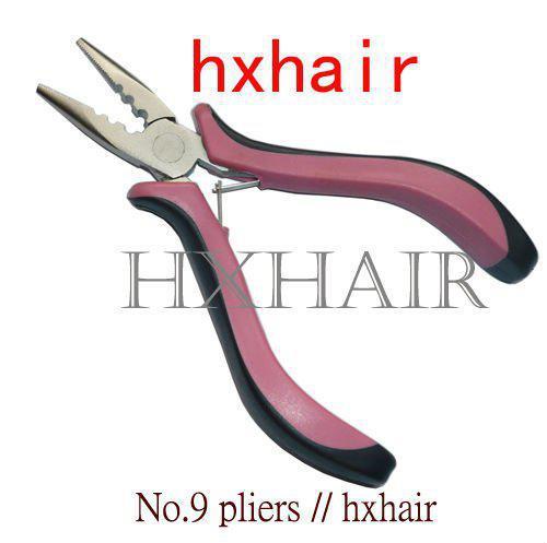 20pcs No.1 플라이어 및 이겠지 바늘 / 머리카락 연장 도구 / 치아와 구멍이있는 직선 머리