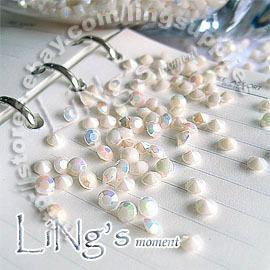 1000pcs 1 / 3ct 4.5mm Cream White diamond confetti bomboniera decorazione a dispersione