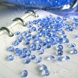 Envío gratis 1000 1 / 3ct 4.5 mm azul diamante confeti boda favor tabla de dispersión de decoración