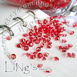 Wholesale Wedding Table Scatter Decorations - Free Shipping 1000 1 3ct 4.5mm Red diamond confetti wedding favor table scatter Decoration