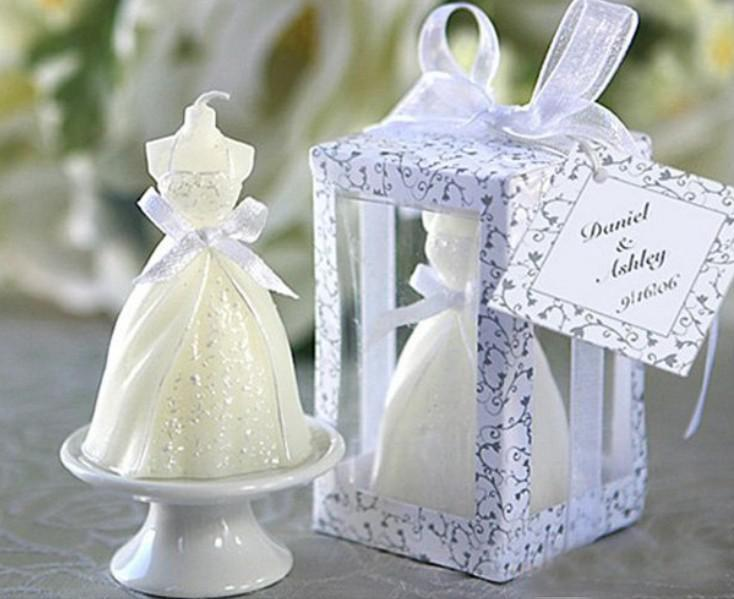 Wedding accessories christmas gift favor candle marriage dress 40pcs wedding accessories christmas gift favor candle marriage dress shaped candles junglespirit Image collections