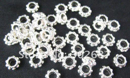 Wholesale Gear Spacer - 900 pcs Silver plated gear circle spacer beads A569SP