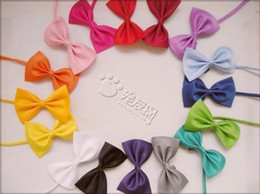 Wholesale Small Bows Wholesale - 10pcs lot 15 kinds of mix colors of dog tie,dog bow tie,can be used as head of flowers