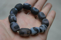 China-Tibet carved jade beads - Tibet Tianzhu bracelet Hand carved Tianzhu dragon beads beads