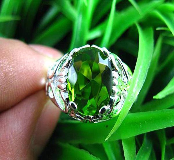Joyería al por mayor Gemas anillos de plata 925 Citrino Cuarzo anillos de piedras preciosas
