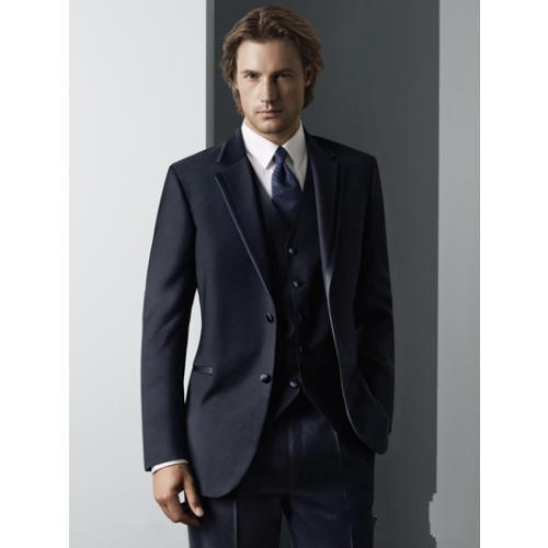 Top quality Two Buttons Handsome Notch Lapel New Groom Tuxedos/Wedding Men's Suit Bridegroom Suits Jacket+Pants+Tie+Vest 04