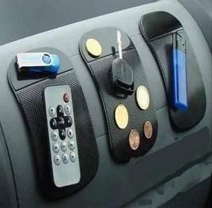 500 pçs / lote dashboard pegajosa pad preto transparente 14 cm magic car anti derrapante pad para celular mp3