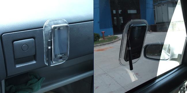 10個/ロットマジックスティッキパッド盗難MP3 MP4スティッキーマット安い卸売の非スリップパッド
