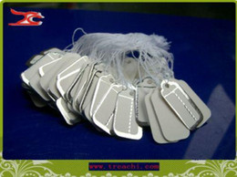 Wholesale Tags Strings - Jewelry Display 500 pieces Tie-on PRICE TAG silver golden label paper price label with string free shipping