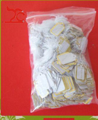 Monili all'ingrosso Display 500 pezzi Tie-on PREZZO TAG etichette oro prezzo etichette gioielli negozio anello braccialetto braccialetto spedizione gratuita