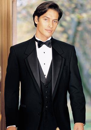 Top quality Two Buttons Notch Lapel New Black Groom Tuxedos/Wedding Men's Suit Bridegroom Suits Jacket+Pants+Tie+Vest 06