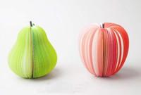 fruchtnoten großhandel-Freier Verschiffen Frucht-Notizblock-roter Notizblock, Nizza Geschenkaufkleber, Anmerkung 30pcs / lot