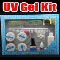 ingrosso kit di chiodi d'arte-Nail Art Acrilico UV GEL Pen Glue File Top Coat Tool Kit di punte Set - SPEDIZIONE GRATUITA