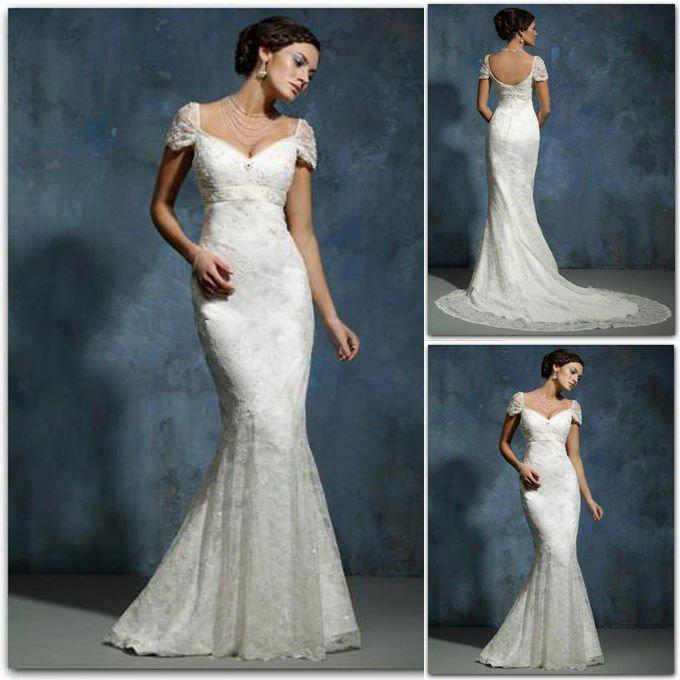 Wholesale Off The Shoulder Mermaid Satin Lace Wedding Dresses ...
