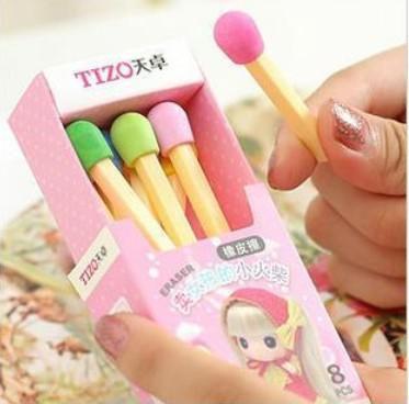 30 коробок / лот новый цвет соответствует моделирование ластик, резиновый ластик для школьных принадлежностей, подарок для детей