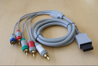 Wholesale Component Hd Video - 10pcs lot AV Audio Video Component HD Cable HDTV For Wii console from sunki2009
