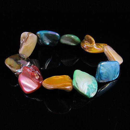 mescola il trasporto libero all'ingrosso A1425 del braccialetto dei monili della nuova donna di modo delle coperture della perla di colore