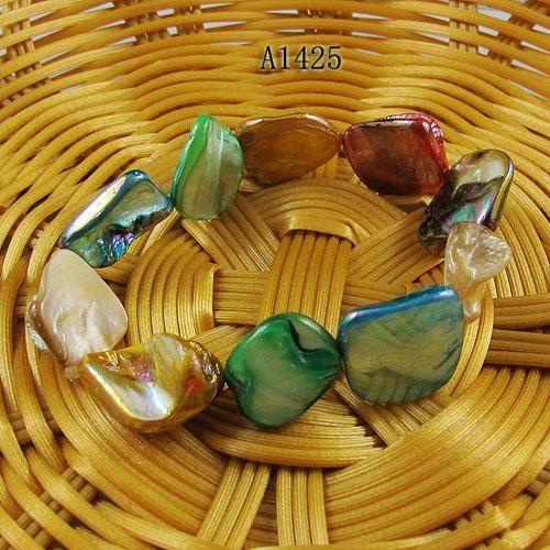 Mezclas de color conchas de perlas nueva moda pulsera de la joyería de la mujer al por mayor envío gratuito A1425