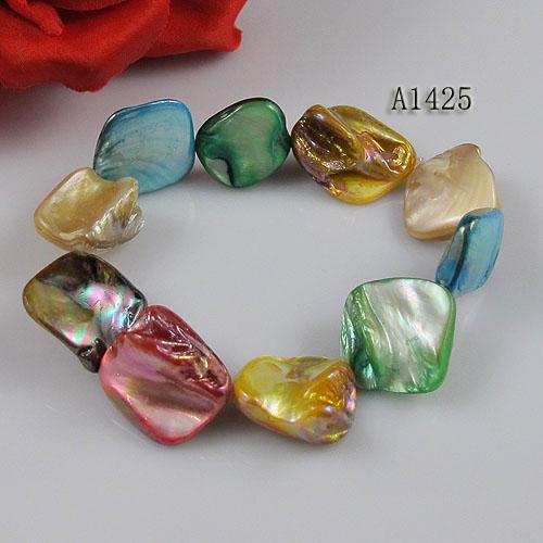 mélange de couleur coquille de perles nouvelle mode femme bracelet de bijoux en gros livraison gratuite A1425
