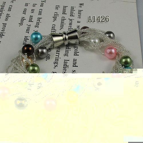 смешивает цвет перламутр 12 шт. новая мода женщины ювелирные изделия браслет Оптовая бесплатная доставка A1426