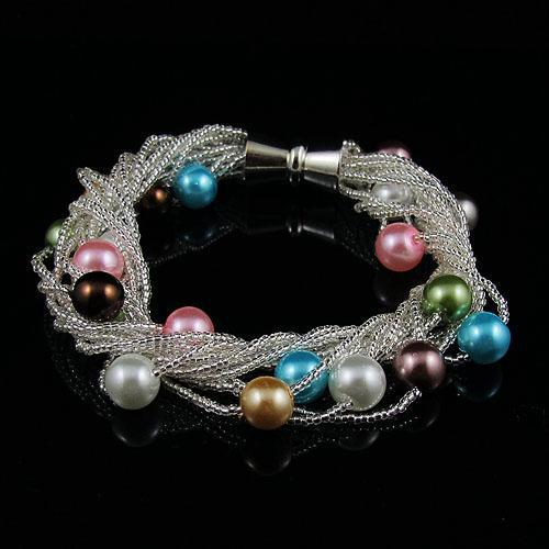 mixes color mother-of-pearl 12pcs new fashion woman's jewelry bracelet wholesale free shipping A1426