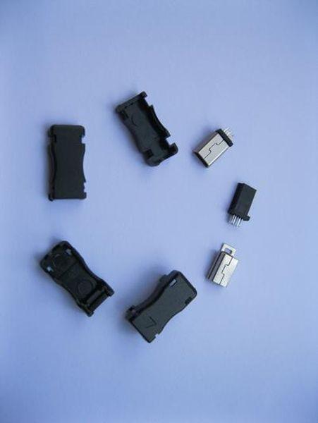 Mini-USB-Stecker Male 5 Pin 8 Pin 10 Pin Anschluss Steckverbinder Kunststoff 500 Stück pro Los