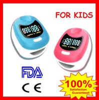 Wholesale Children Finger Pulse Oximeter - CONTEC DUAL COLOR KIDS CHILD CHILDREN FINGERTIP OXIMETER PULSE SPO2 FINGER PULSE-OX METER CMS50QB